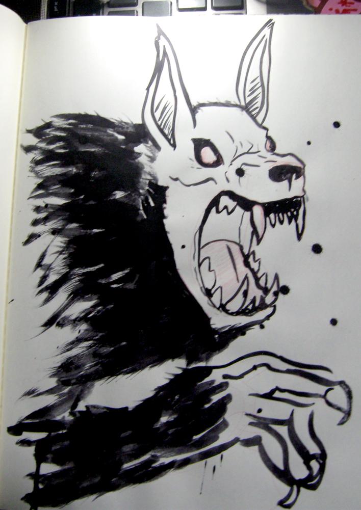 MM : Ink Wolf by wraithdragon
