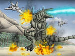 Godzilla vs Jets