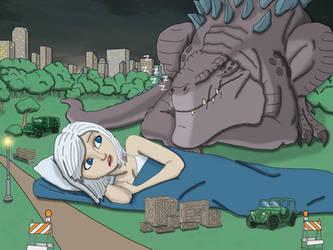 Godzilla vs Ginormica: part 6 by chris-illustrator