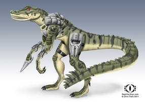 Reptilia Chameleon by chris-illustrator