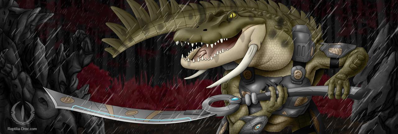 Droc Sword wielder by chris-illustrator