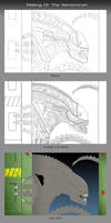 Making of The Xenomorph by chris-illustrator