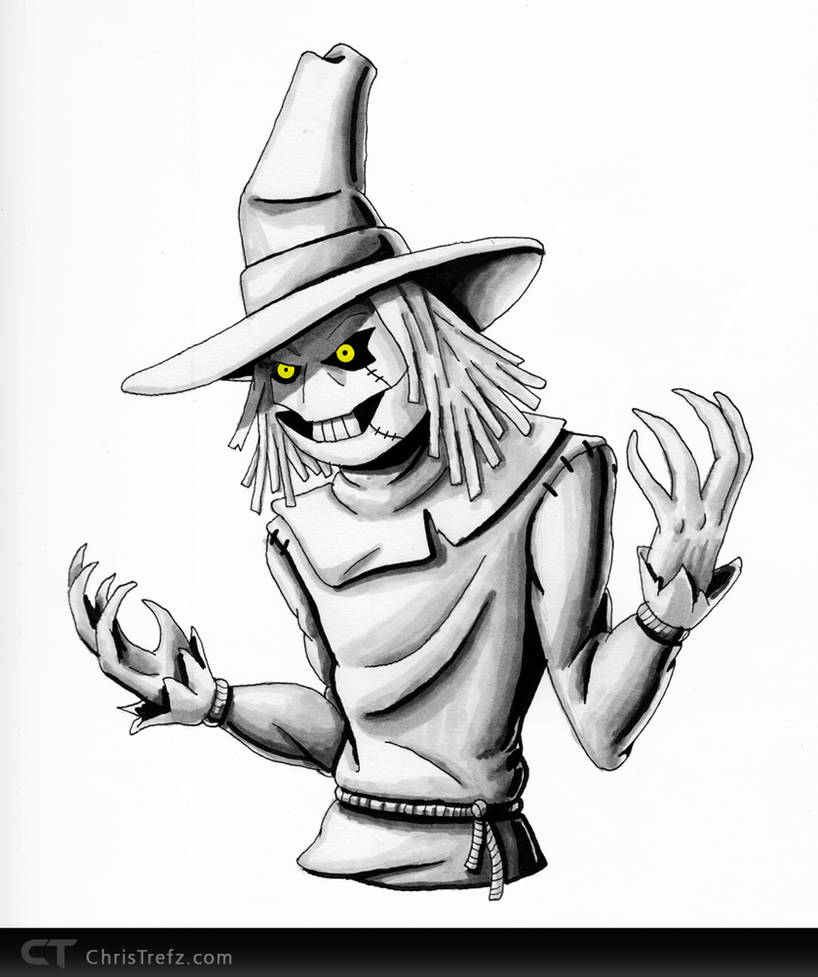 Scarecrow Sketch by chris-illustrator