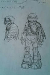 Dark Raphael - rough sketch by Allinox