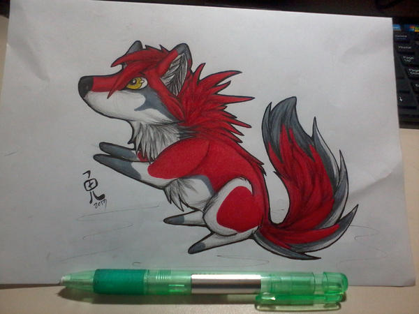 Nexus - Chibi wolf by KoutaOni