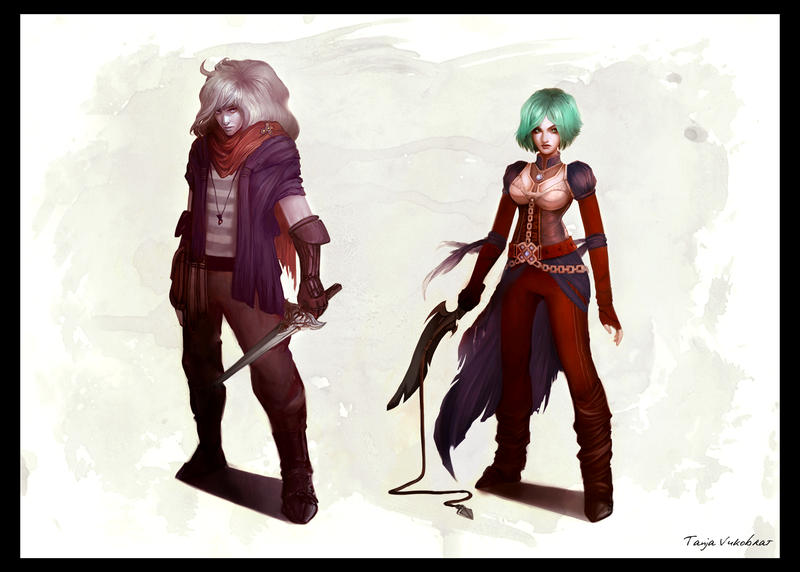 Cassiel and Toinette by TheSacredMushroom