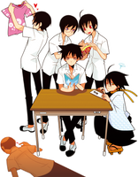 Zetsubou Sensei BoyStudents by NosferatuTheNictuku