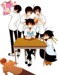 Zetsubou Sensei BoyStudents