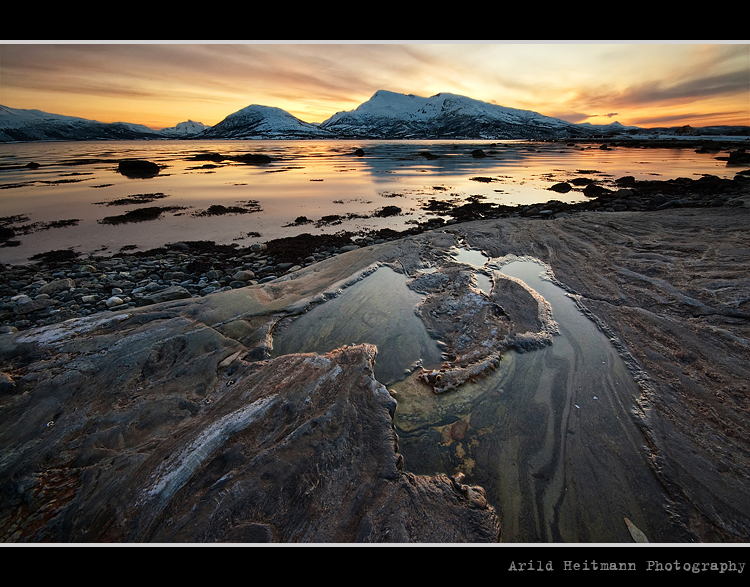 Sunset at Evenskjer by uberfischer