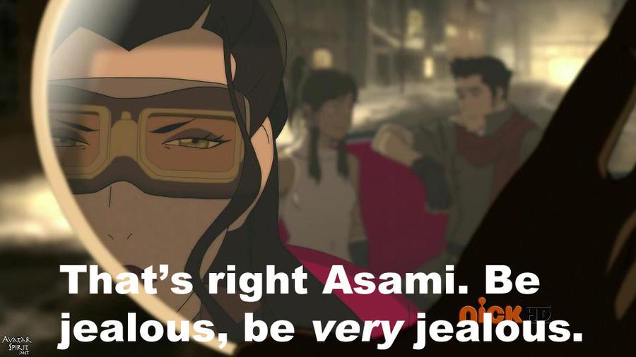Jealous Asami by 106Eli