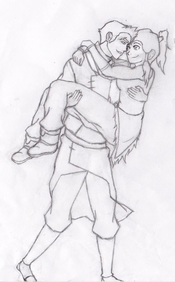 Korra and Mako by 106Eli
