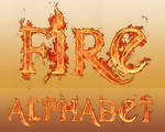 Flaming-Fire Alphabet Brushes