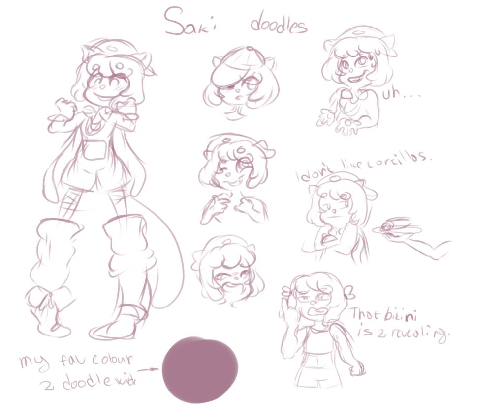 Saki doodle by FioraSBae