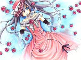 Ciel- Floating lilies COPIC by Sloth-chan