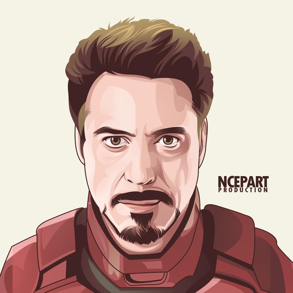 Iron man vector portrait by ncepart by Ncepart28 on DeviantArt