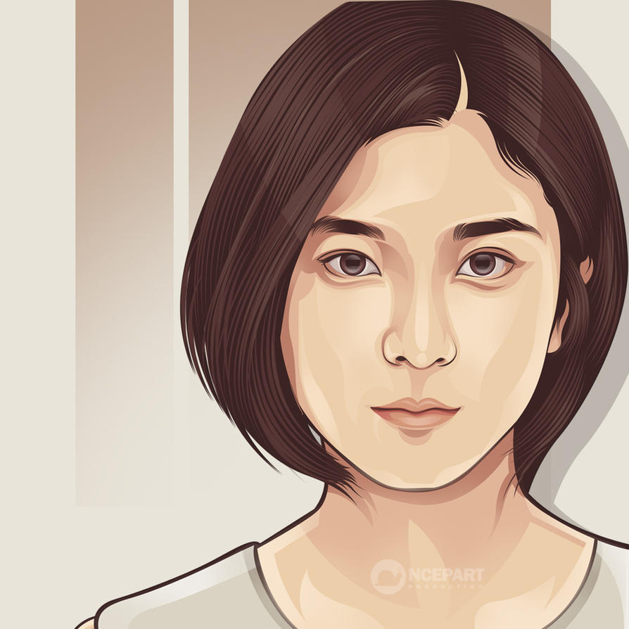 beauty japanese on vector portrait by ncepart by Ncepart28 on ...
