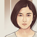 beauty japanese on vector portrait by ncepart