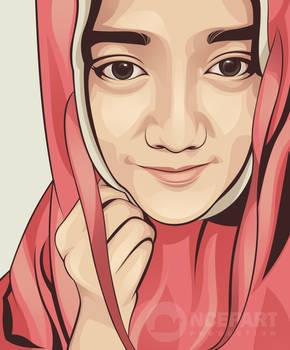 Wirda Mansyur on vector portrait