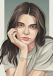 Kendall jenner vector portrait by Ncepart28