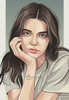 Kendall jenner vector portrait