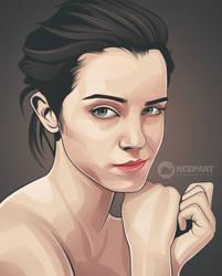 beauty vector portrait