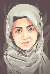 hijaber vector portrait