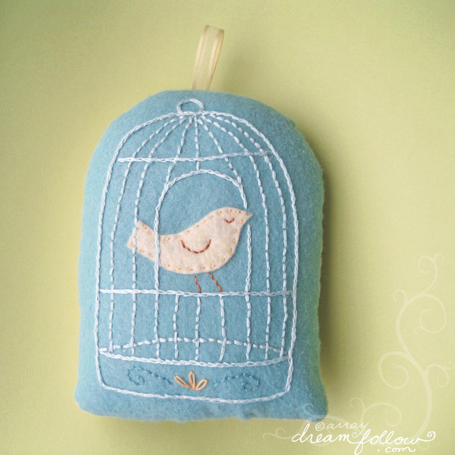 Bird cage plush by merwing
