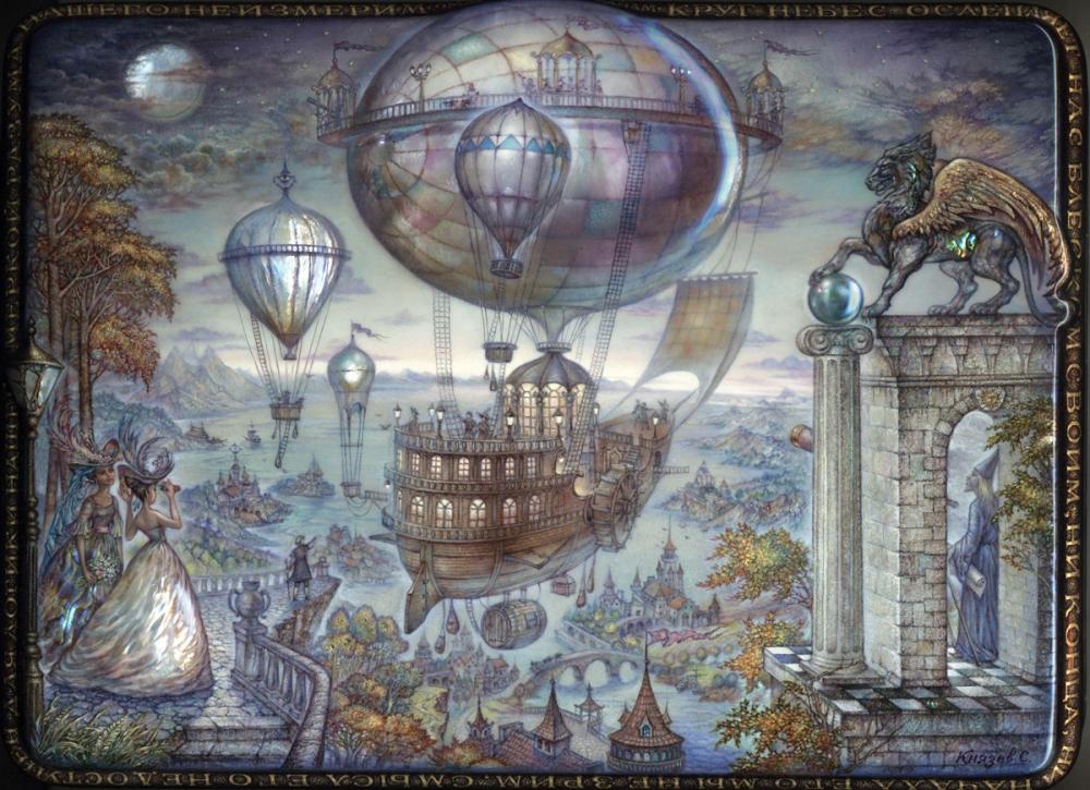 Flying ship by KnyazevSergey