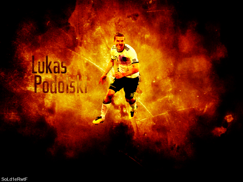 Lukas Podolski / Wallpaper by clickclackboom on DeviantArt