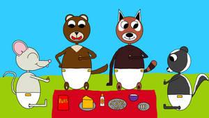 Oliver's cheesy picnic