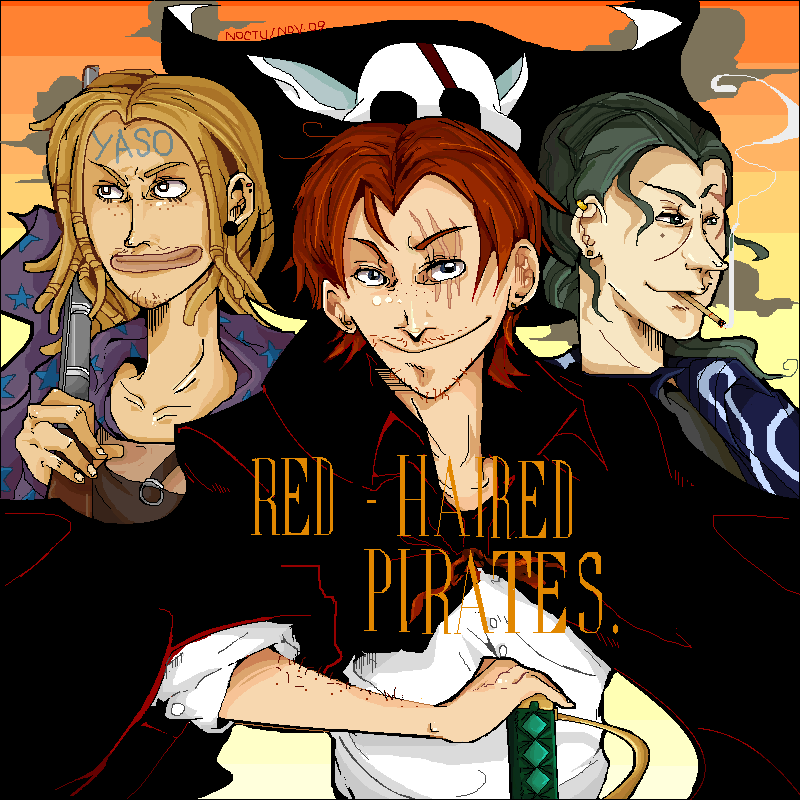Shanks And Red Haired Pirates By Nocturnallight On Deviantart