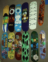my customised skateboard decks by ztenzila