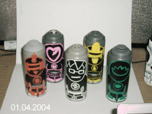 emo ranger spray cans by ztenzila