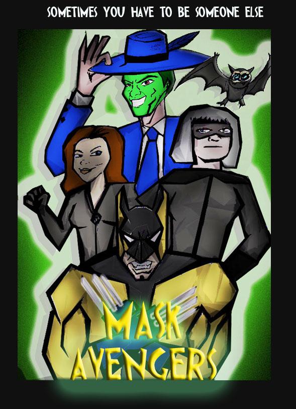 Mask Avengers Poster 1  by ztenzila