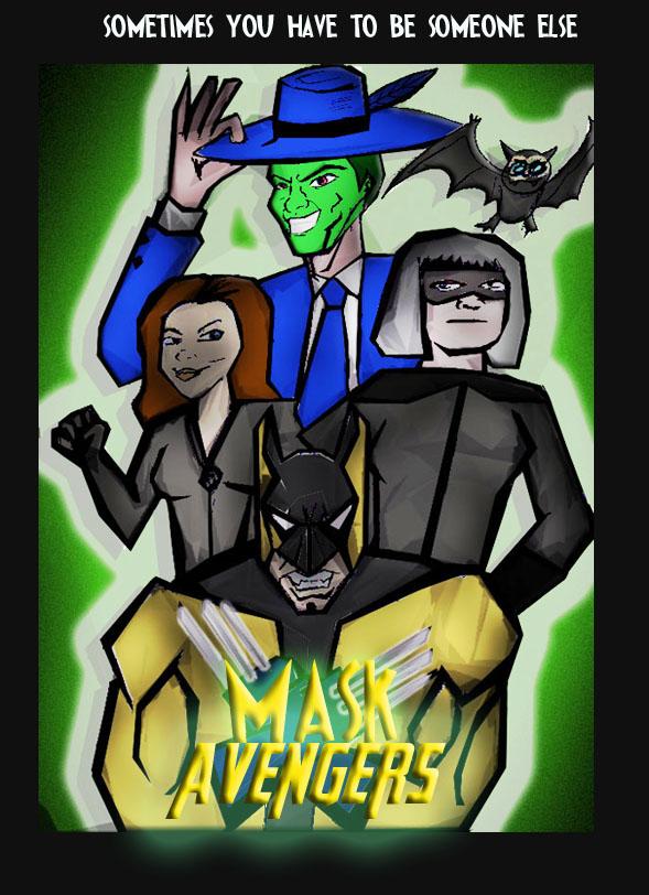 Mask Avengers Poster 2  by ztenzila