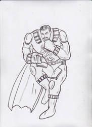 Meteorman DKR style Sketch Drawing by ztenzila