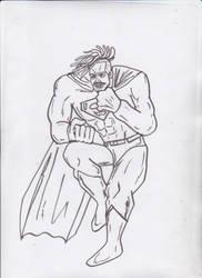 superman (michael b jordan) DKR style SKETCH by ztenzila