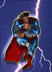 superman (michael b jordan) DKR style by ztenzila