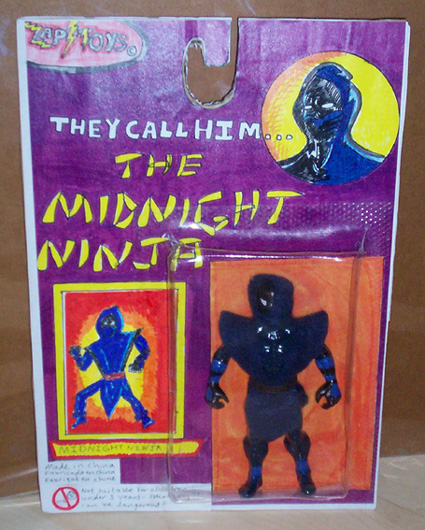 midnight ninja action figure by ztenzila
