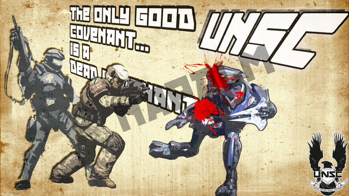 UNSC Propaganda Poster by NAPALMSTR1KE Unsc Propaganda
