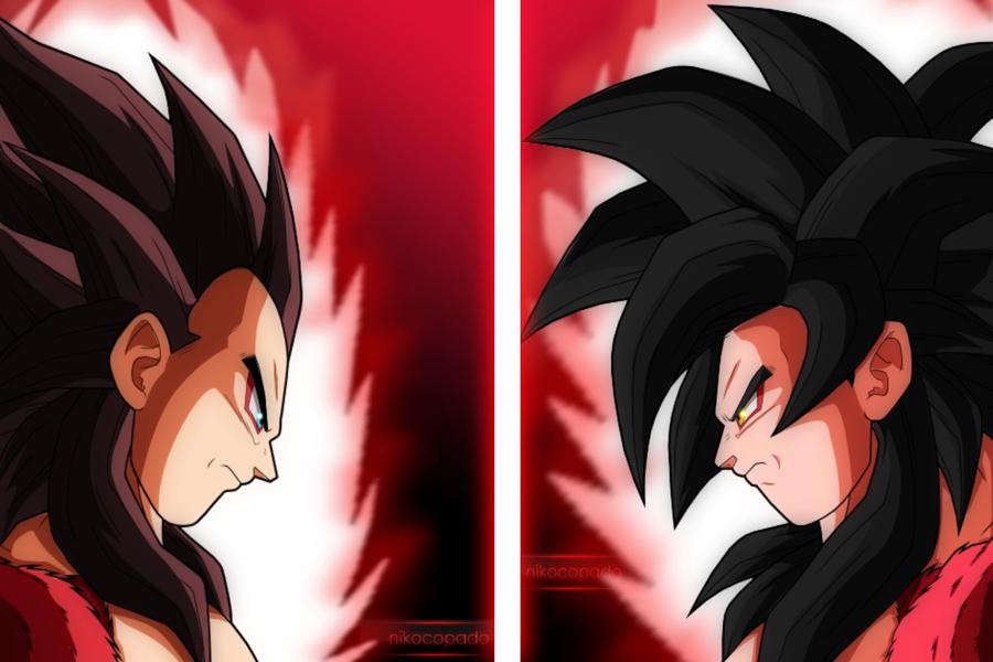 Goku Ssj4 And Vegeta