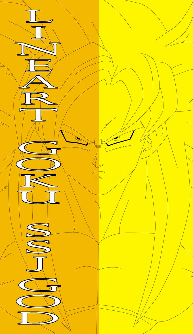 Goku Ssj God - Lineart