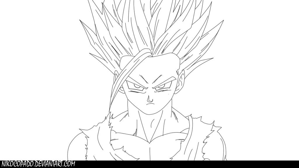 Dibujos Para Colorear De Dragon Ball Z Gohan Ssj2 Ideas: Lineart By Nikocopado On DeviantArt