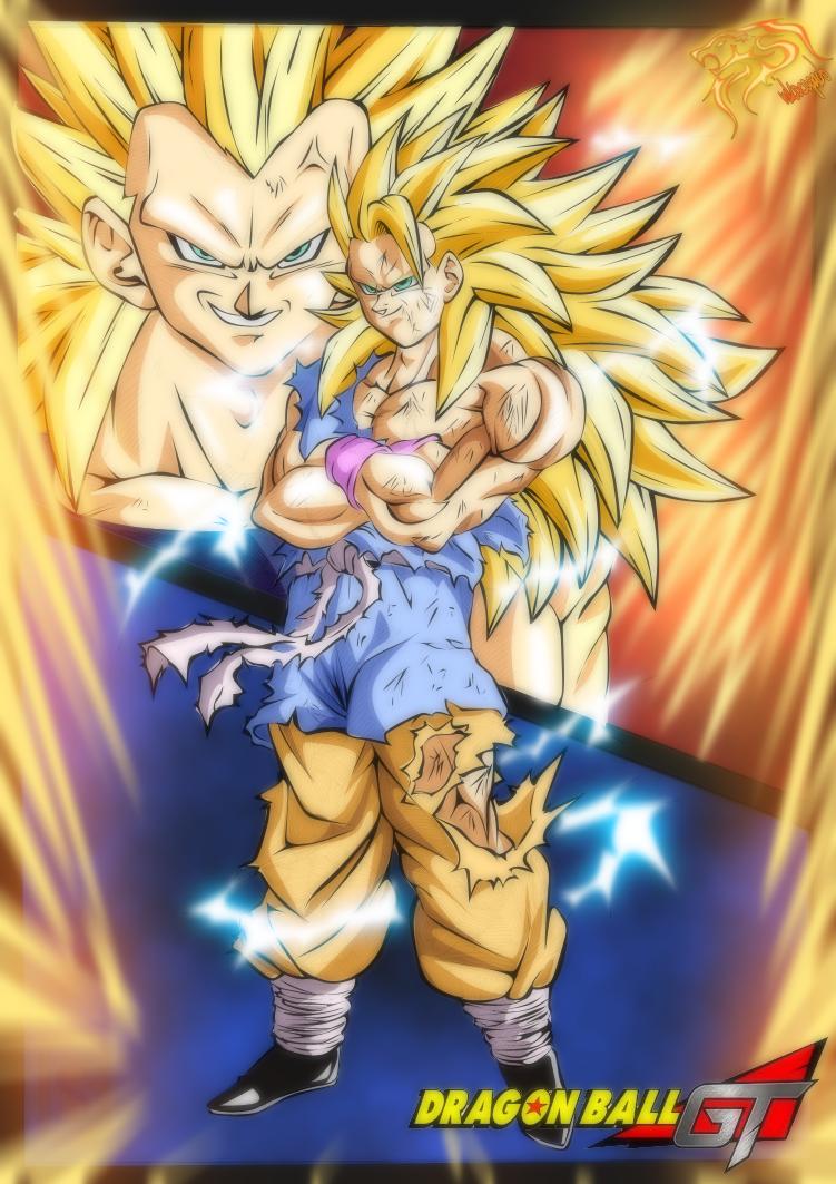 Goku Ssj3 Vs Vegeta Ssj3 - Full power [Color] by ...