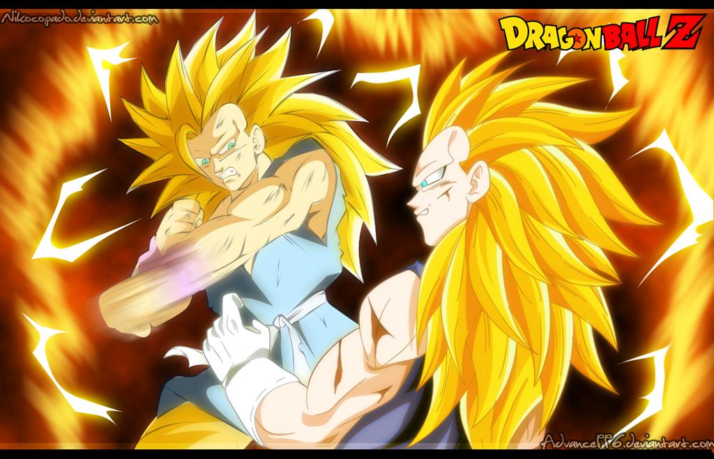 Goku Ssj4 Vs Goku Ssj3: Goku Ssj3 Vs Vegeta Ssj3 [COLLAB] By Nikocopado On
