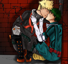 Kiss in the alley