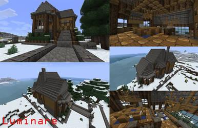 Minecraft- Snowy Lodge Manor by X-Luminare-X