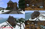 Minecraft- Snowy Lodge Manor