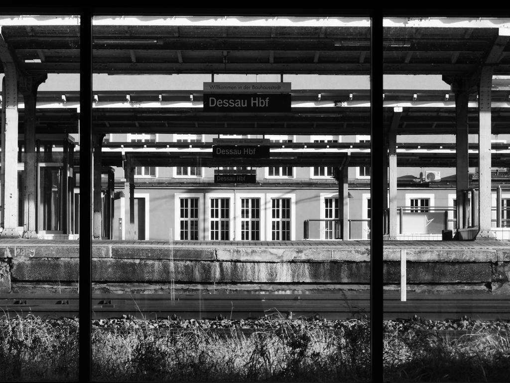 Dessau Hauptbahnhof In Winter Afternoon by X-Luminare-X
