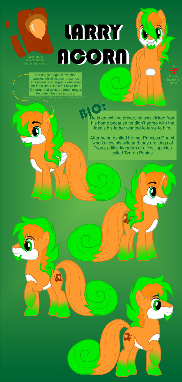 Larry Acorn Reference Sheet. by Chumi-chan
